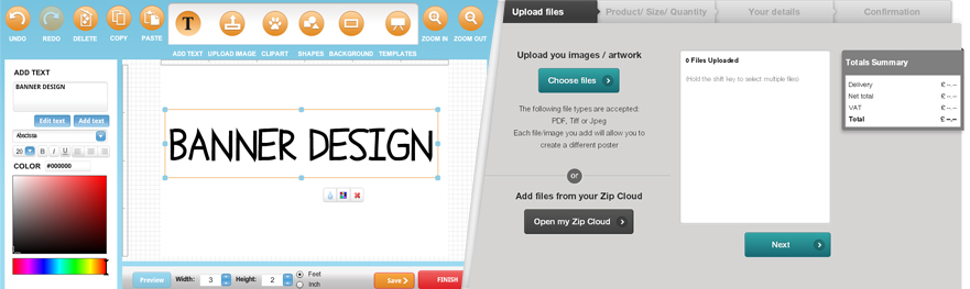 Sign design software custom sign designer tool online for Online software design tool