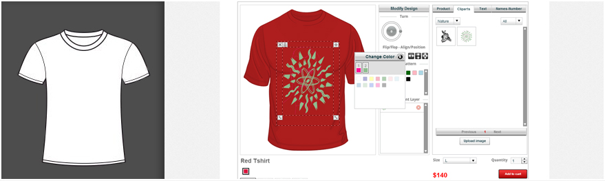 Online t shirt design software custom tshirt designer tool Design t shirt online