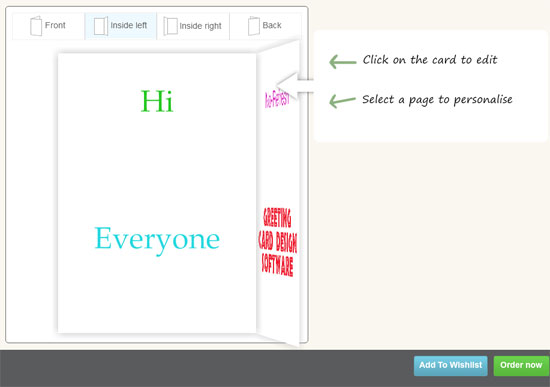 Online Greeting Card Design software