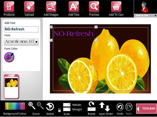 Online Laptop Skin Design Tool