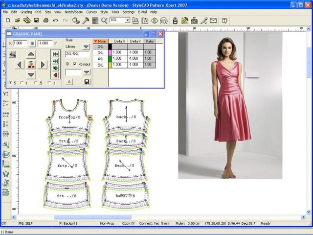 Fashion Merchandising app that grades papers