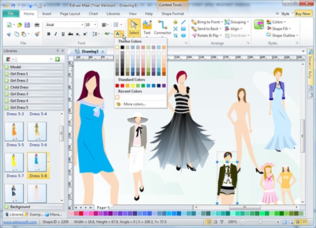Outsourcing custom fashion design software blender of Online clothing design software