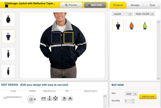 Custom Apparel Design Tool