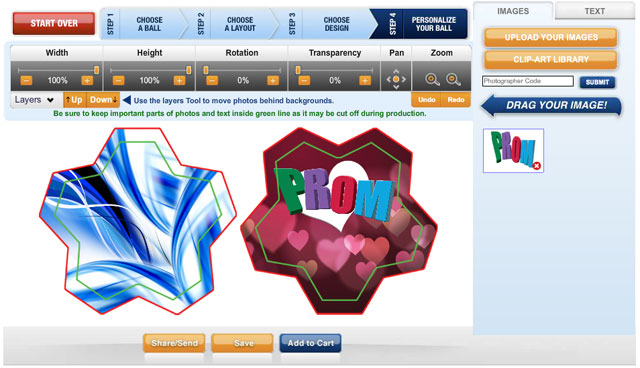 Custom ball design software online ball design tool by for Online remodeling software