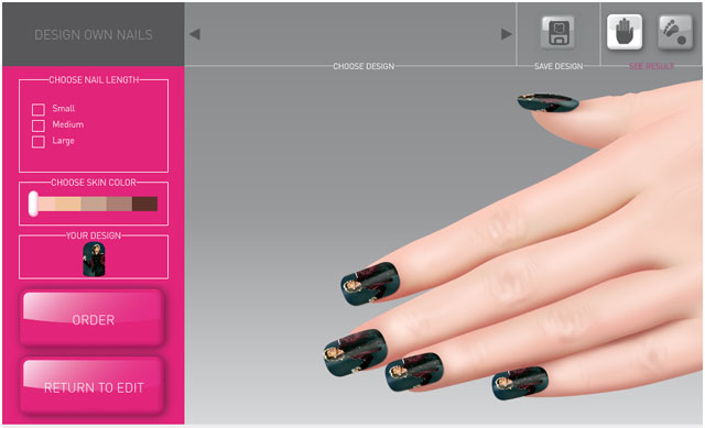 Custom nail designer software online nail art designing for Online software design tool