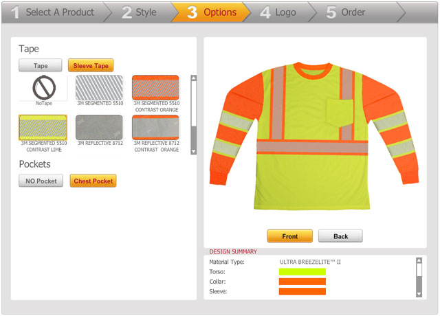 Safety vest pant design software custom safety clothing Online design tool