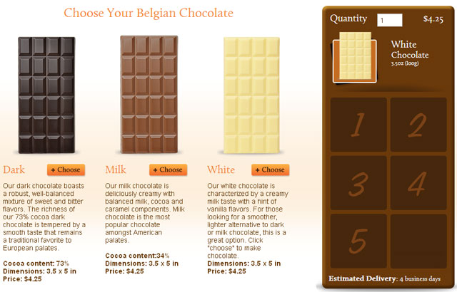Online Chocolate Design Software