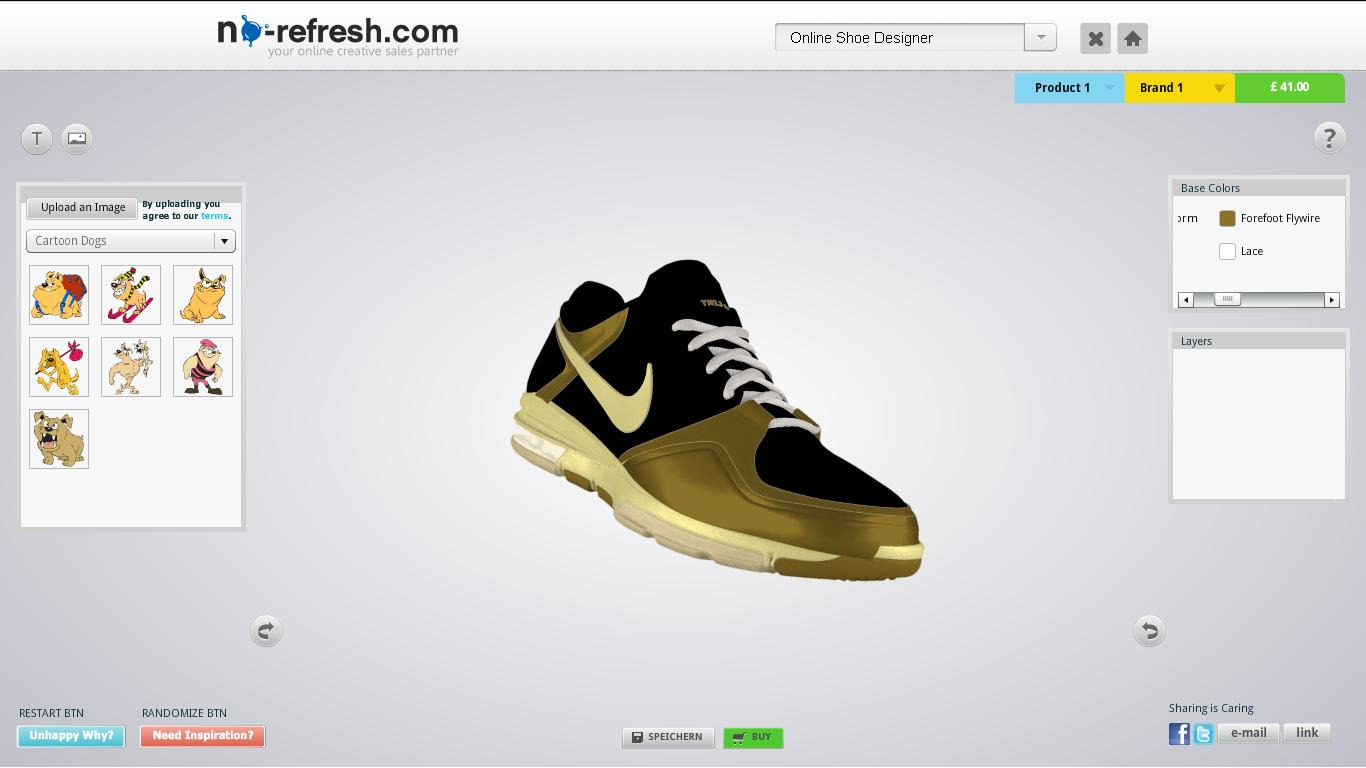 Shoe design tool to let your end users design aspired pair for Online designs