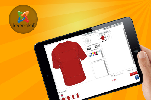 joomla-lntegrated virtuemart t-shirt design tool