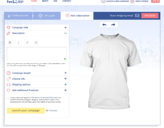 Custom campaign t shirts design tool to raise money by for How to make money selling custom t shirts