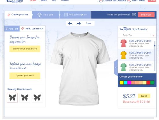 Custom Online T-shirts Design Tool Step Third