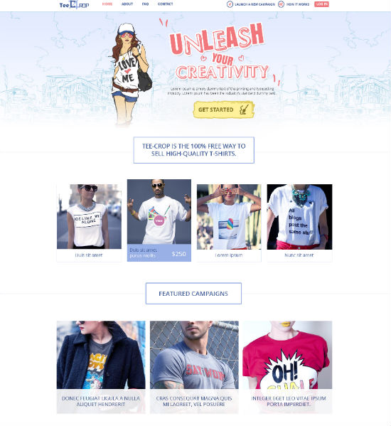 Custom Online T-shirts Design Tool