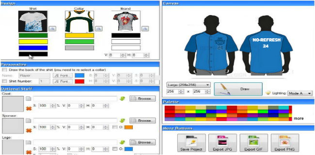 Jerseys design tool to create custom sports uniform online Online design tool