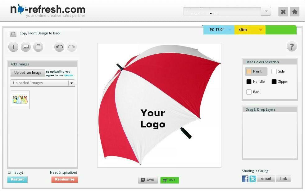 Online Umbrella Design Tool
