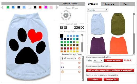 Dog t shirt design tool software for custom pet clothes Online clothing design software