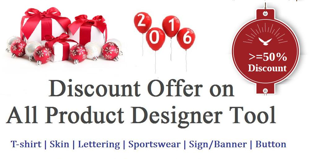 Discount Offer on All Product Designer Tool