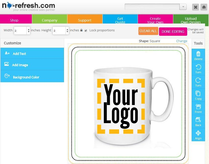 Custom online mug cup design tool pump up your sales for Program design tools