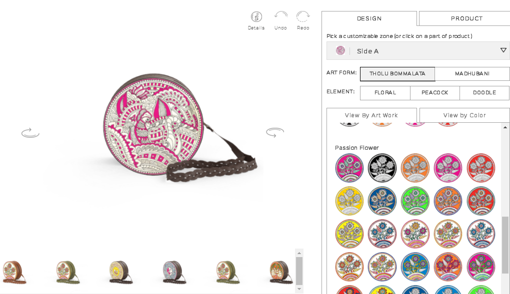 Custom Online Handmade Bag Designer Tool