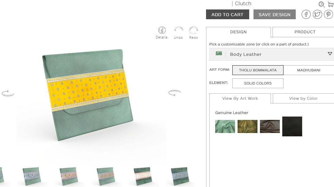 Custom Clutches Designer Tool Software