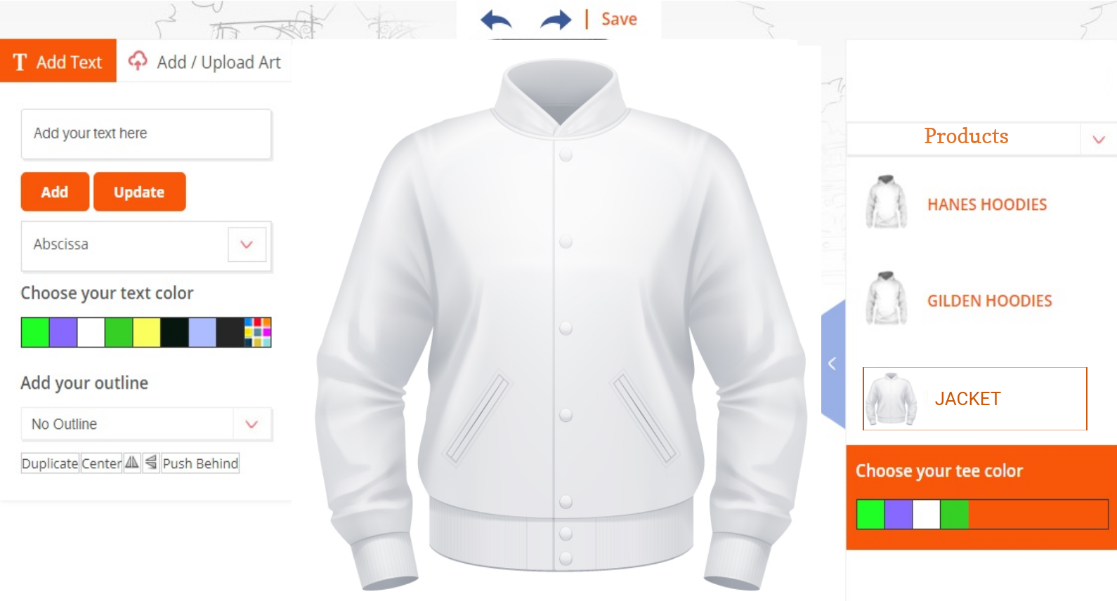 Custom Jacket Design Tool Software Tool