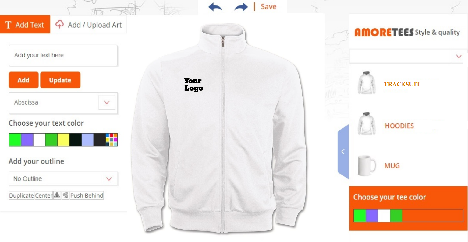 Custom Online Tracksuit Design Software