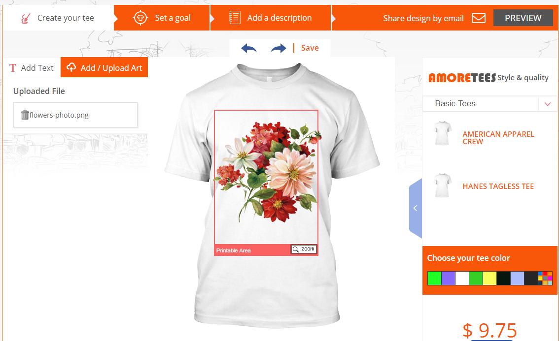 t-shirt design online