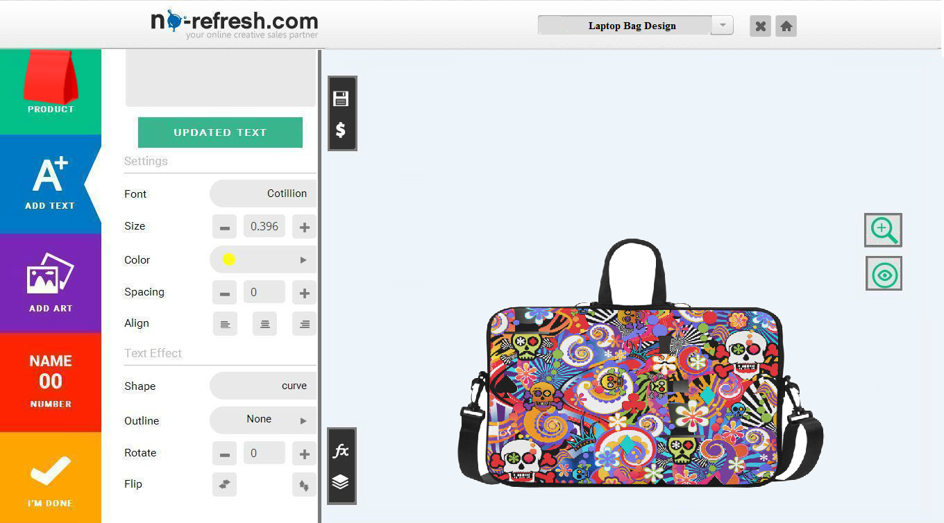 laptop bag design software