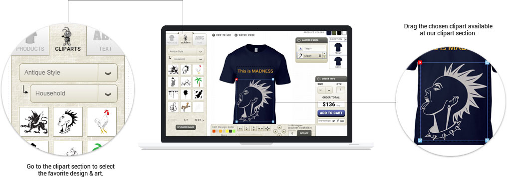 07adee2eb Online Shopify T-shirt Designer Tool / Software / APP